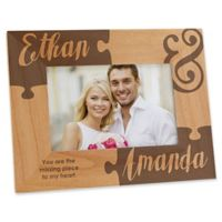 Missing Piece to My Heart 4-Inch x 6-Inch Engraved Picture Frame