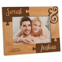 Missing Piece to My Heart 5-Inch x 7-Inch Engraved Picture Frame