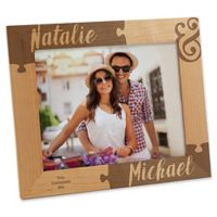 Missing Piece to My Heart 8-Inch x 10-Inch Engraved Picture Frame