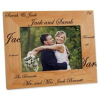 Mr. and Mrs. Collection 5-Inch x 7-Inch Picture Frame