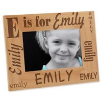 Alphabet Name 4-Inch x 6-Inch Picture Frame
