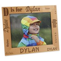 Alphabet Name 8-Inch x 10-Inch Picture Frame
