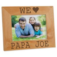 I/We Love Him 5-Inch x 7-Inch Picture Frame