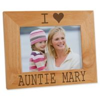 I/We Love Her Personalized 5-Inch x 7-Inch Picture Frame