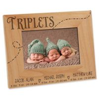 Triplet Love 4-Inch x 6-Inch Picture Frame