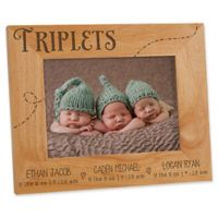 Triplet Love 5-Inch x 7-Inch Picture Frame