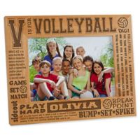 """""""V is for Volleyball"""" 5-Inch x 7-Inch Picture Frame"""