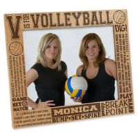 """V is for Volleyball"" 8-Inch x 10-Inch Picture Frame"