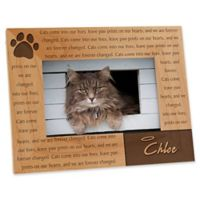 Paw Prints On Our Heart 4-Inch x 6-Inch Picture Frame