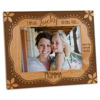 """Lucky to Call You...Mom"" 5-Inch x 7-Inch Picture Frame"
