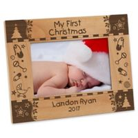 """My First Christmas"" 4-Inch x 6-Inch Picture Frame"