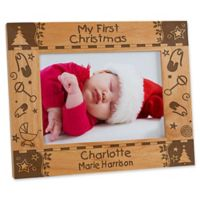 """My First Christmas"" 5-Inch x 7-Inch Picture Frame"
