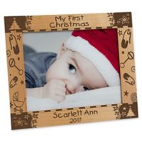 """My First Christmas"" 8-Inch x 10-Inch Picture Frame"