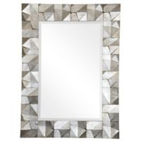 "Ren-Wil ""Scape"" 36-Inch x 49-Inch Wall Mirror in Silver Leaf"