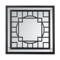 Madison Park Gramercy Patterned Print Mirror in Black