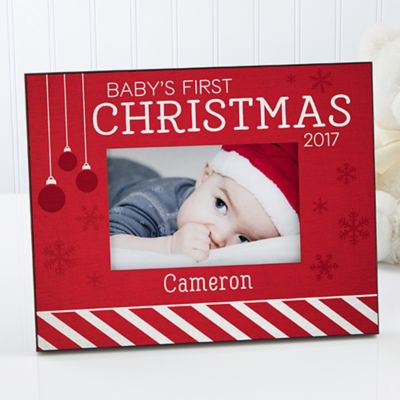babys 1st christmas 4 inch x 6 inch picture frame