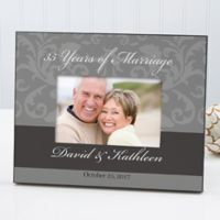 Floral Damask Wedding/Anniversary Picture Frame