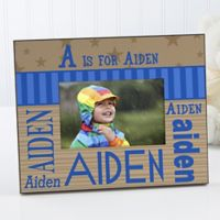 His Name Alphabet 4-Inch x 6-Inch Picture Frame