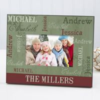Our Loving Family Christmas 4-Inch x 6-Inch Photo Frame