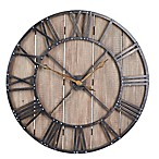Household Essentials® Roman Numerals Vintage Barnwood Wall Clock