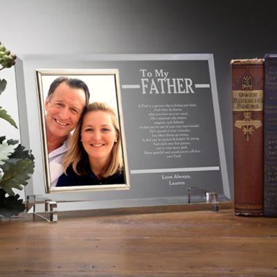to my dad engraved picture frame - Engravable Frames
