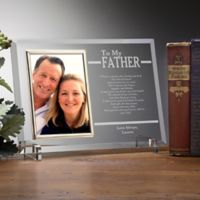 To My Dad Engraved Picture Frame