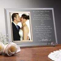 Wedding Invitation Picture Frame