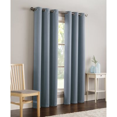 VCNY Home Ryan 84 InchGrommet Top Room Darkening Window Curtain Panel In  Blue