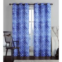 VCNY Home Andreas Printed Saxton 96-Inch Grommet Top Window Curtain Panel Pair in Teal
