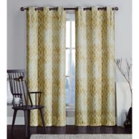 VCNY Home Andreas Printed Saxton 96-Inch Grommet Top Window Curtain Panel Pair in Yellow