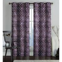 VCNY Home Andreas Printed Saxton 84-Inch Grommet Top Window Curtain Panel Pair in Chocolate