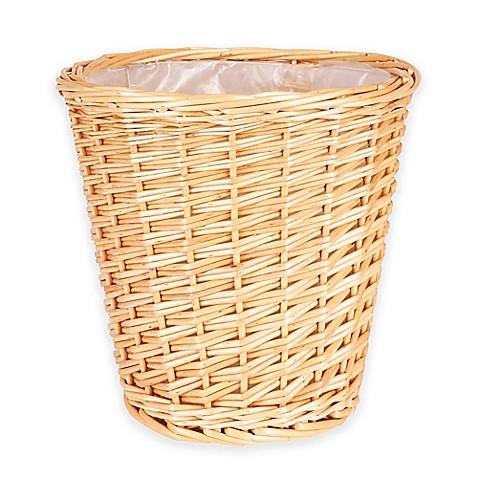Household Essentials Small Willow Wicker Wastebasket Bed Bath Beyond