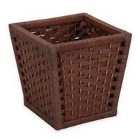 Household Essentials® Paper Rope Wicker Wastebasket in Brown