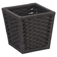 Household Essentials® Paper Rope Wicker Wastebasket in Black
