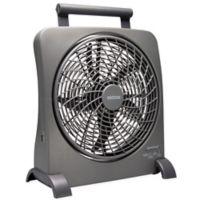 O2COOL® 10-Inch Smart Power Fan in Grey