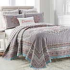 Amelie Reversible Twin Quilt in Grey