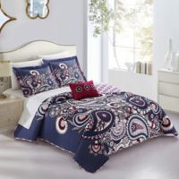 Chic Home Taji 8-Piece Reversible Queen Quilt Set in Blue