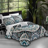 Chic Home Jalon 4-Piece Reversible King Quilt Set in Black