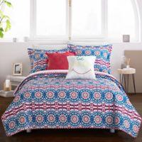 Chic Home Maiya 9-Piece Reversible Full Quilt Set in Fuchsia