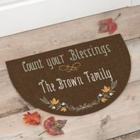 """Count Your Blessings"" Half Round Door Mat"