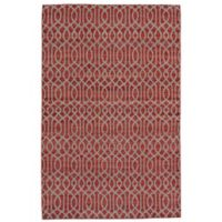 Feizy Prentiss Trellis 9-Foot x 12-Foot Area Rug in Red