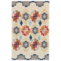Feizy Cadiz Medallion 3-Foot 6-Inch x 5-Foot 6-Inch Area Rug in Blue/Magenta