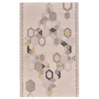 Feizy Cadiz Geo 3-Foot 6-Inch x 5-Foot 6-Inch Area Rug in Ivory/Yellow