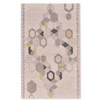 Feizy Cadiz Geo 5-Foot x 8-Foot Area Rug in Ivory/Yellow