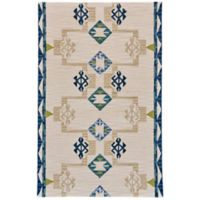 Feizy Cadiz Southwest 3-Foot 6-Inch x 5-Foot 6-Inch Area Rug in Blue/Natural