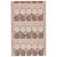 Feizy Cadiz Pentagon Geo 5-Foot x 8-Foot Area Rug in Grey/Taupe