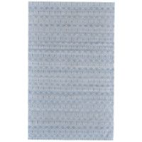 Feizy Burton Concentric Diamond 4-Foot x 6-Foot Area Rug in Blue/White
