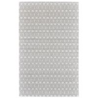 Feizy Burton Concentric Diamond 4-Foot x 6-Foot Area Rug in Silver/Grey