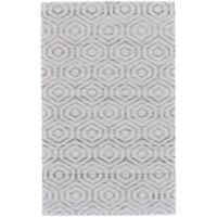 Feizy Burton Concentric Diamond 4-Foot x 6-Foot Area Rug in Ivory/Charcoal