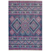 Feizy Tosca Diamonds 5-Foot x 8-Foot Area Rug in Teal/Multi